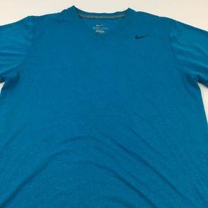 Nike Dri Fit V Neck Tee Gym Active Sport T Shirt M